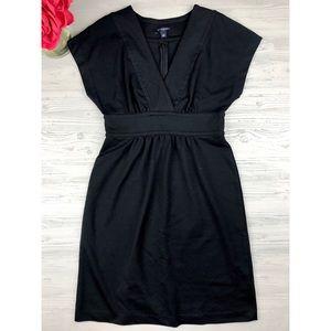Banana republic black vneck dress